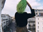 NEON GREEN HAIR LESSONS